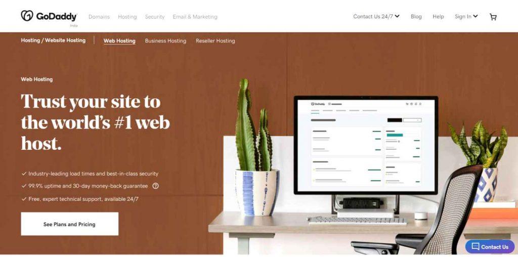 GoDaddy Web Hosting Review in Hindi
