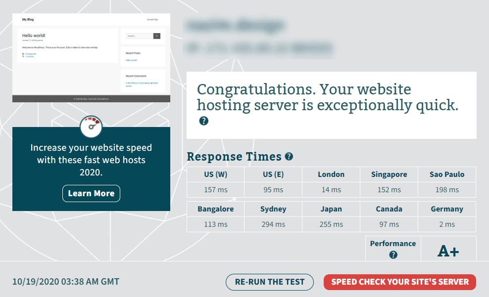 Hostarmada performance report from Bitcatcha