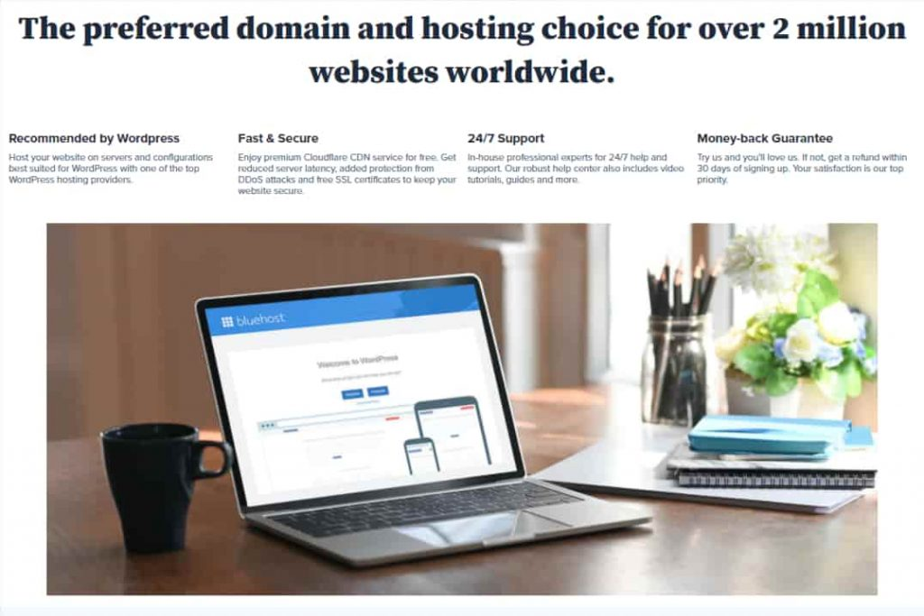 Hosting & Domains with bluehost