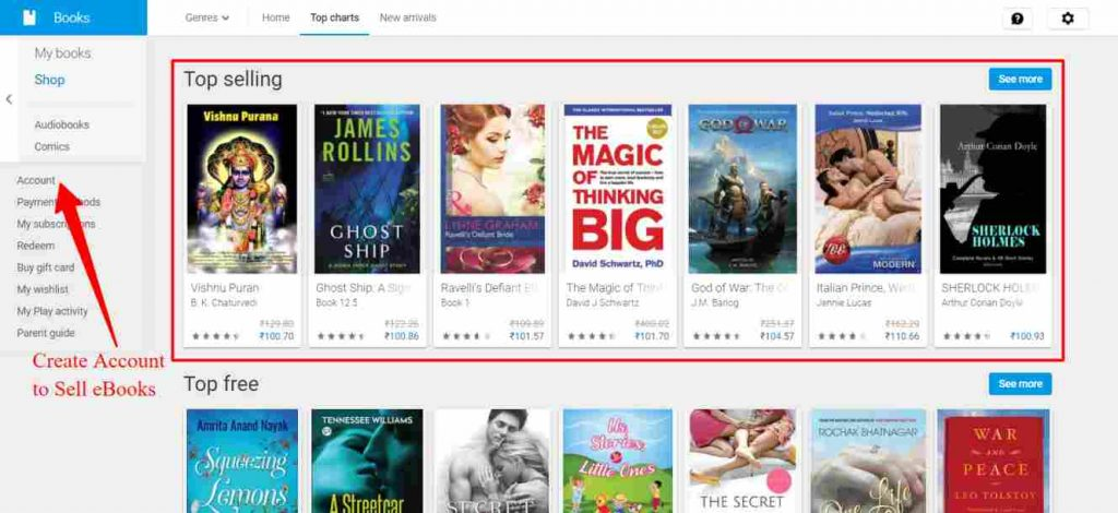 Sell ebooks on Google Play Store