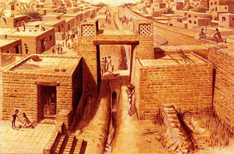 Harappa किस नदी के किनारे स्थित है